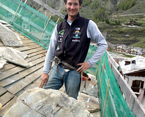 La guida alpina Andrea Benato